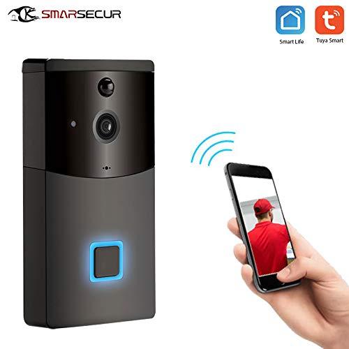 SMARSECUR® TY-L9 Video Türklingel mit Kamera,1080P HD Video Doorbell, Gegensprechfunktion, 1 Innen-Gong,IP65 Wasserdicht, Bewegungsmelder, Kompatibel mit Alexa/Google Echo