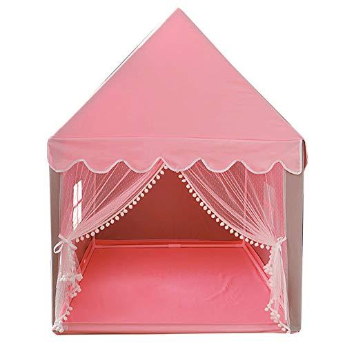 ZZUU Nieuwe Familie Veilig Kinderen Speeltenten, Vloermat, Het Gordijn Heeft Een Band Vast, 100% Katoen Doek Draagbare Prinses Meisjes Tent Voor Binnen En Buiten