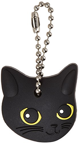 Field Point Key Cover/Key Caps/Key Holder/Keycaps - Cute Animal Pet Faces (Black Cat)