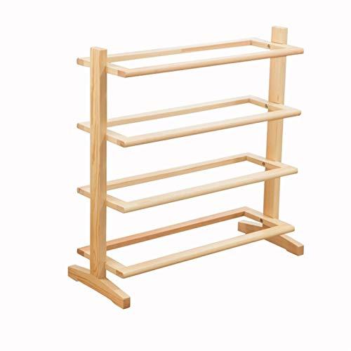 Zapatero de 4 niveles para zapatos, organizador de madera, estante de zapatos para entrada, pasillo, sala de estar, dormitorio, zapatero