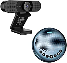 Home Office Set from Bluetooth Speakerphone Luna Lite + 1080P HD Streming Webcam C960, Computer Speakers with Microphone, ...