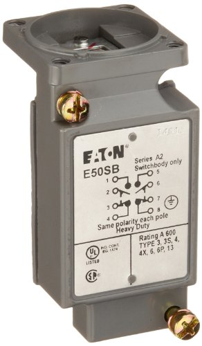 E50SB | EATON SWITCH BODY DOUBLE POLE 2 N/O 2N/C