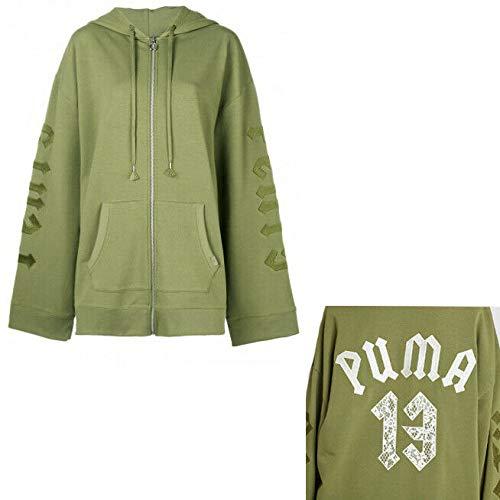 PUMA X Fenty by Rihanna Harnessed Fleece Hoody Ramo di oliva 42 IT/US S