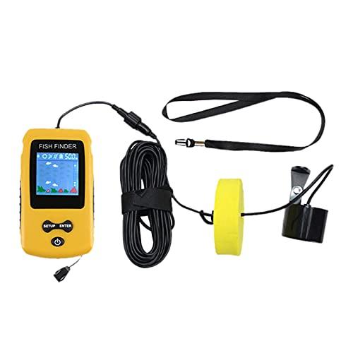 HomeDecTime Sonda Portátil Fish Finder 100m Sensor de Sonda Transductor Fishfinder Barco