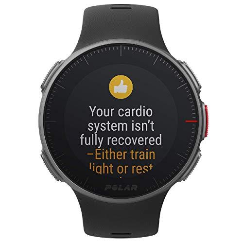 POLAR VANTAGE V – Premium GPS Multisport Watch for Multisport & Triathlon Training (Heart Rate Monitor, Running Power, Waterproof), Pro (Includes H10 HRM Chest Strap), Black