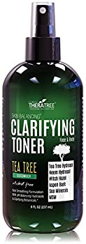 Clarifying Toner with MSM Tea Tree & Neem Hydrosol Complexion Control for Face & Body – Helps Reduce Appearance of Pore Size Controls Oil to Tone Balance & Hydrate Skin - 8 oz