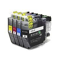 brother ブラザー LC3111 (BK/C/M/Y) 4色セット 残量表示可能ICチップ付 互換インクカートリッジ 最優良品質【F・L・C製 1年保証付】