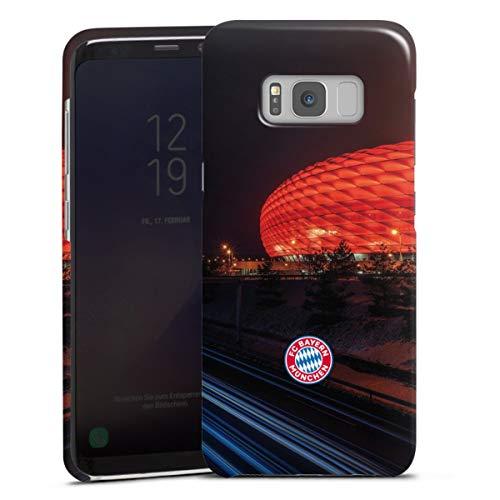 DeinDesign Premium Case kompatibel mit Samsung Galaxy S8 Smartphone Handyhülle Hülle glänzend FC Bayern München FCB Stadion