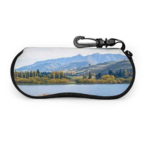 Funda para gafas de sol de neopreno con cremallera suave para gafas de sol de neopreno con funda para gafas de sol