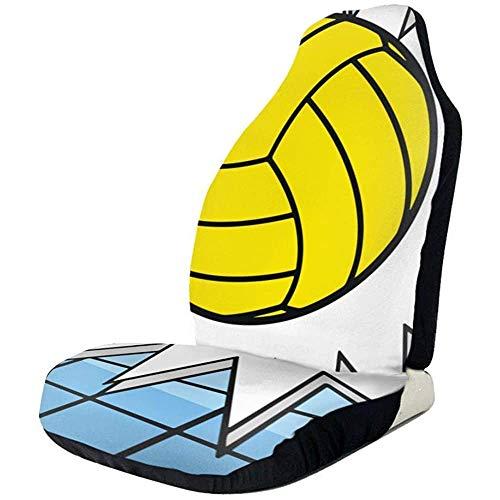 MaMartha Car Seat Cover Voleibol Hit Net States Fundas para Asientos de automóviles Fundas para Alfombrillas de automóviles Protector para vehículos Se Adapta a la mayoría de los automóviles,2 Piezas