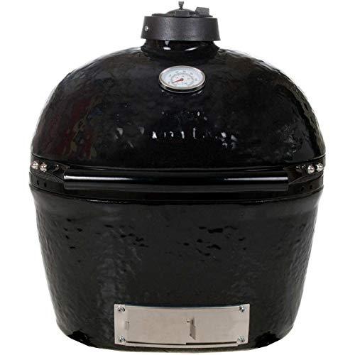 Primo 774 Ceramic Charcoal Smoker Grill, Oval Junior