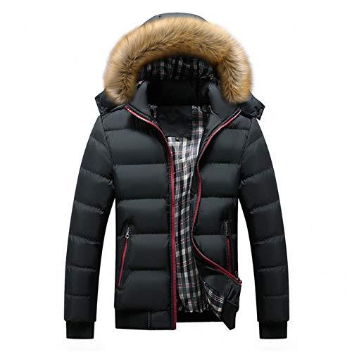 Männer Winterjacken Dicke Kapuzenpelzkragen Parka Männer Mäntel Casual Gepolsterte Herrenjacken Männliche Kleidung 6XL 7XL SA748 (Color : Black, Size : 7XL)