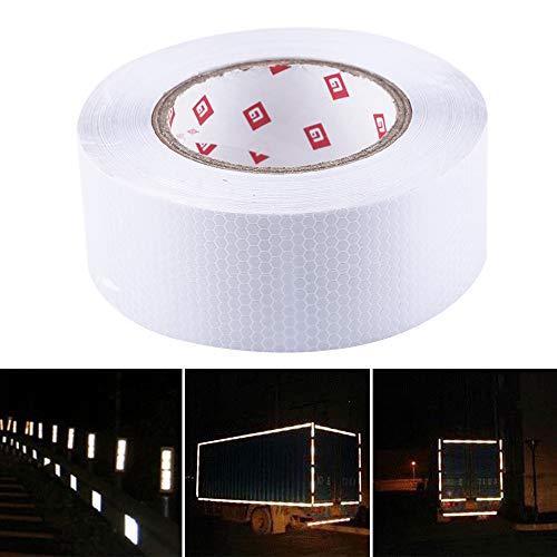 Allright 5cm x 25m Reflektorband Silber Reflektorfolie Warnung Selbstklebend Warnaufkleber