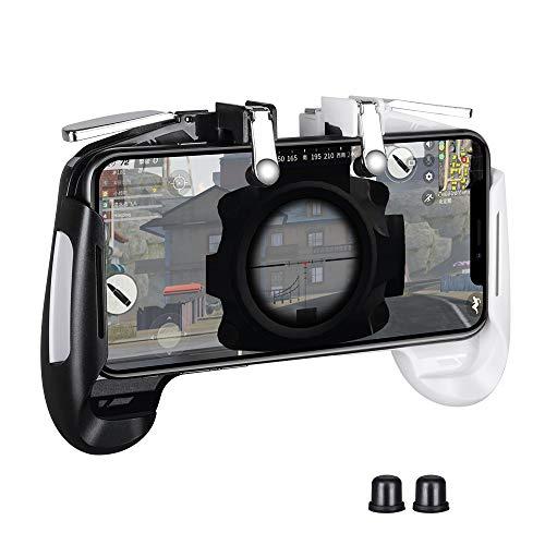 PUBG Mobile Game Controller Gamepad Qoosea Sensitive Schießziel Joysticks Physikalische Tasten L1R1 Ergonomisches Handgriffspiel Trigger für Messer Out / PUBG / Critical Ops