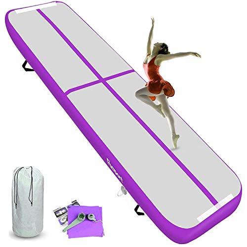 KIKILIVE AirTrack - Colchoneta hinchable para gimnasia (20 cm, 4 m)