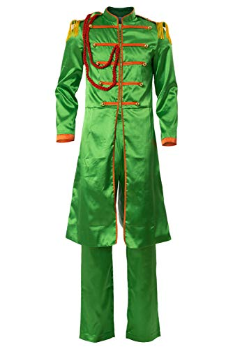 Cosplaysky The Beatles Costume SGT.Pepper's Lonely Hearts Club John Lennon Cosplay Large Green