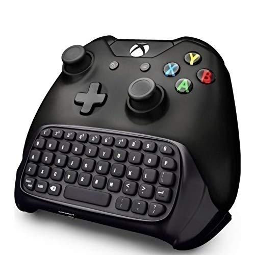 DaMohony Teclado inalámbrico para Xbox One, receptor 2.4 G Chatpad juego de mensajes, teclado retroiluminado para Xbox One/S/Elite