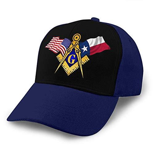 Lsjuee Gorra de bisbol Ajustable Masonic Freemason Texas