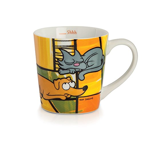 Egan PTS21/1G - Taza Jumbo, modelo Perro/Gato, Porcelana, Multicolor