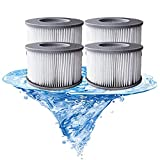 Cartucho de filtro de repuesto para filtro de bañera de hidromasaje Mspa,filtro de repuesto para piscinas hinchables MSPA,submarinos y spa,versión mejorada,adecuado para jacuzzi actuales(4 unidades)