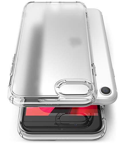 Ringke Fusion No-Smudge Matte Cover per iPhone SE (2020), iPhone 8, Custodia Progettato per iPhone SE (2020), iPhone 8 No-Smudge Case - Clear