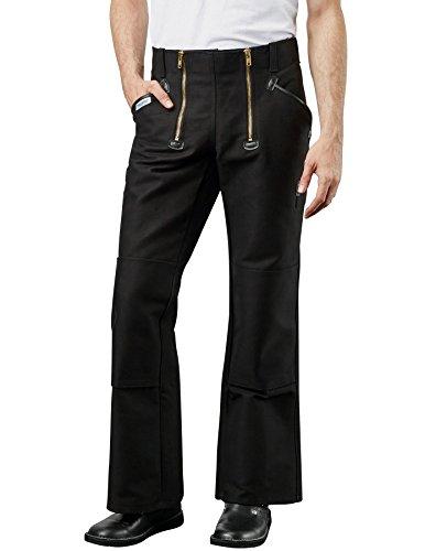 PIONIER WORKWEAR Herren Trenker-Garantiecord-Zunfthose mit Schlag in schwarz (Art.-Nr. 304) Größe 58
