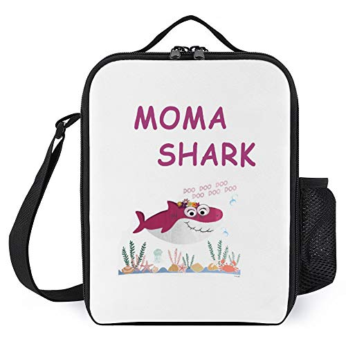 Portable Thermal Insulated Lunch Bag with Shoulder Strap,Tote bag,Lunchbox Food Container,Meal Pack,Heat Preservation Bag - Waterproof Reusable For Unisex Adult Kid-MOMA SHARK