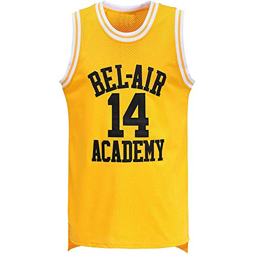 oldtimetown Bel Air #14 Fresh Prince Basketball Jersey Stitched Letters and Numbers S-XXXL