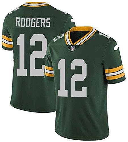 Camiseta de rugby de manga corta para hombre, diseño de Green Bay Packers, Aaron Rodgers #12, fútbol americano ropa deportiva