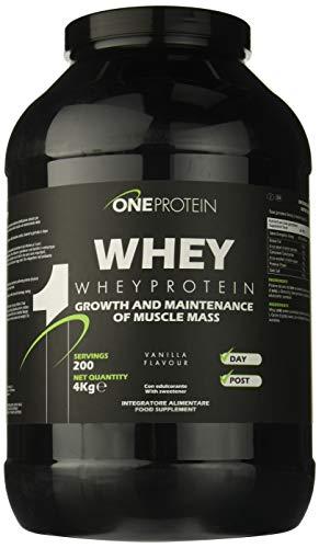 One Protein Whey integratore alimentare a base di proteine del siero del latte concentrate mediante ultrafiltrazione gusto Vaniglia 4000 g