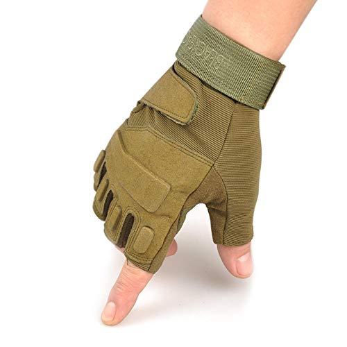 FahrradhandschuheFitness-Mountainbike-Handschuhe rutschfeste, verschleißfeste Reitsport-Sportschutzausrüstung-M_03 Army Green Trainingshandschuhe