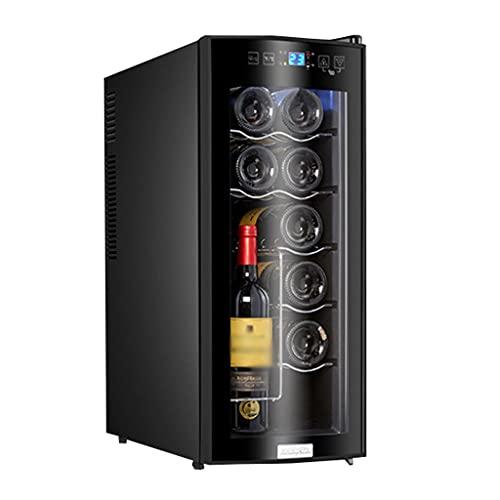 SHENXINCI Mini Vitrina Pequeña Vinoteca de 12 Botellas, Display Digital y Panel de Control Táctil, Control Electrónico de La...