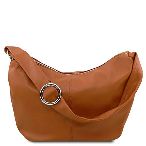 Soft full grain leather Cotton lining Soft structure 2 compartments Made in Italy