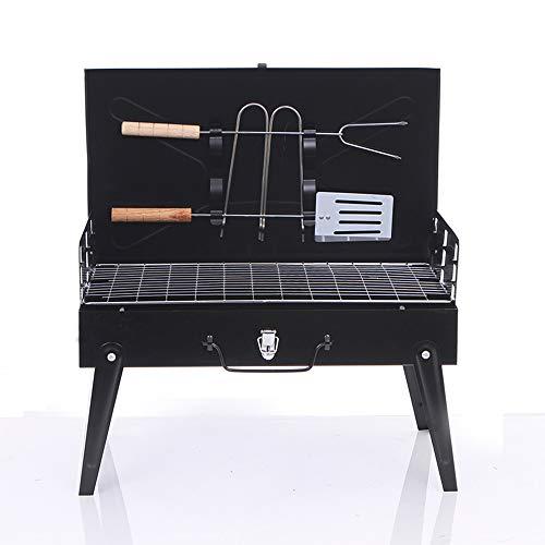 OFAY Kleine Grillbox Grill-Werkzeugkasten Tragbare Faltbare Holzkohle-Grillplatte Für Picknick-Gartenterrasse Campingausflug