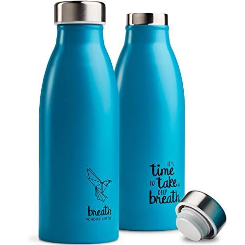Choice Bottle | Breath | Die leichteste 500 ml Edelstahl-Thermosflasche - Nachfüllbar - Doppelwandisolierung - BPA-frei - Plastikfreie Verpackung