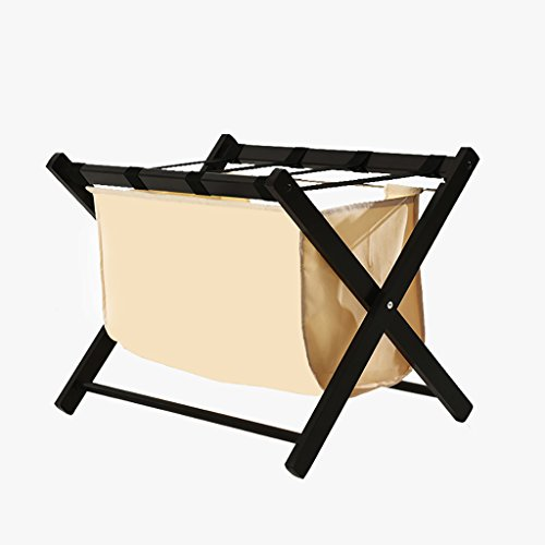 Find Bargain Yuyandejia Folding Luggage Rack Solid Wood Simple Simple and Modern Hotel Luggage Rack ...