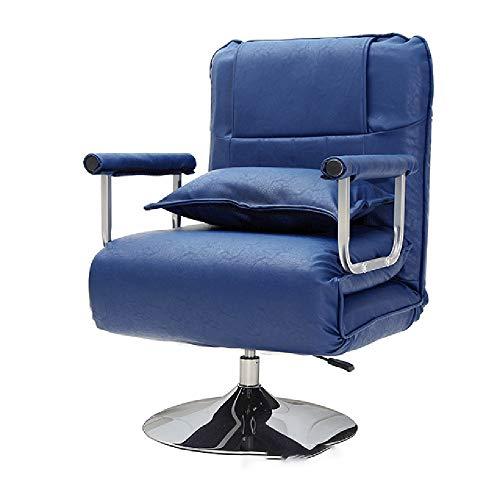Bseack Fauteuils Inclinables,Chaise Pliante Déjeuner Rotation À 360 ° Dossier Réglage À 5 Vitesses Assis Et Couché Balcon (Couleur : Bleu)