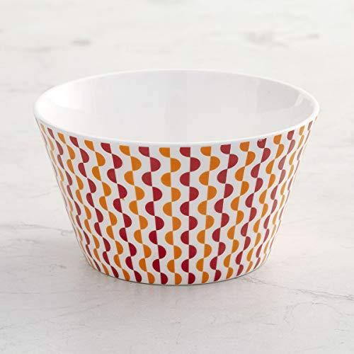 Home Centre Mandarin Emily Printed Bone China Bowl - Set of 3