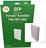 EFP Humidifier Filters for Vornado MD1-0001, MD1-0002, Evap1, Evap 2, Evap3, HWF55, HWF-55 Model Humidifiers Replacement Wicking Filters | Includes 12 Aftermarket Filters