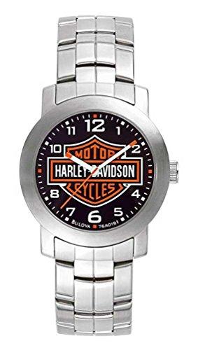 Harley Davidson 76A019 - Reloj de pulsera para hombre con esfera negra