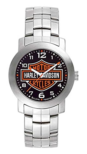 Harley Davidson 76A019para Hombre Esfera Negra Reloj de Pulsera