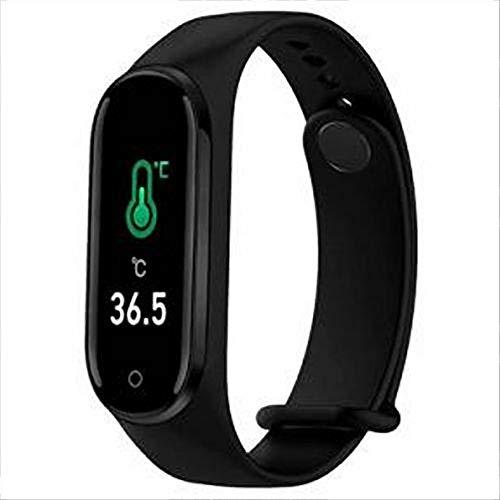 Orologio smartwatch misurazione Temperatura -misurazione corporea-Calorie bruciate-contapassi-Trova Il Dispositivo-monitoraggio del Sonno- Pressione sanguigna -saturazione Ossigeno (Rosa)