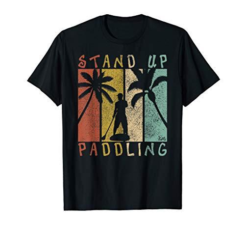 Retro SUP Shirt Für Frauen Männer Kinder Stand Up Paddle T-Shirt