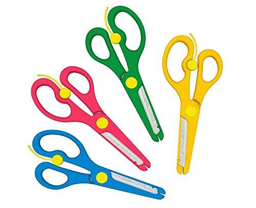 Anlising forbici di sicurezza, 4 pezzi, forbici di sicurezza per bambini, forbici fai da te, forbici per bambini, forbici per bricolage con sicurezza