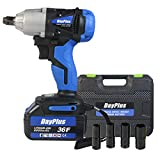 Cordless Impact Wrench 1/2 inch Driver 18V 420N.m High Torque with Socket Set