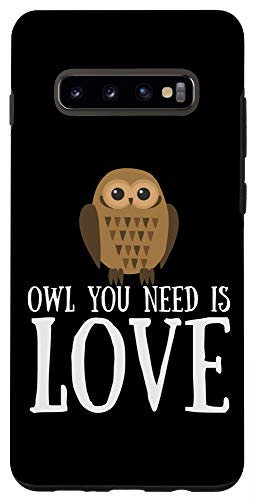 Galaxy S10+ Funny Owl Lover Slogan Pun Gift Owl You Need Is Love Case