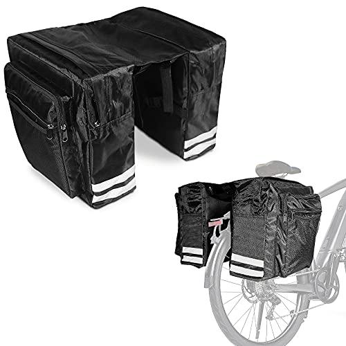 XINRANFF Borsa per Bicicletta Posteriore,Borse Bici Posteriore Laterali Impermeabile per Mountain Bike,Bici da Corsa,Campeggio e all Aperto di Borsa Telaio Bici