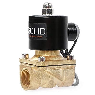 "3/4"" Brass Electric Solenoid Valve 24VDC N.C. Air Water Fuel VITON"