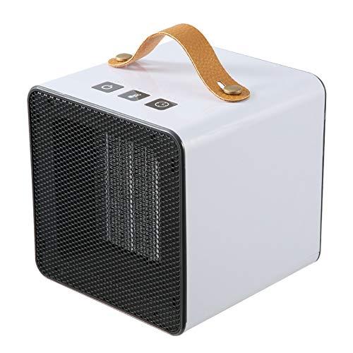 LQQ Persönliche Elektrische Heizlüfter Tragbarer Desktop Heizlüfter PTC Ceramic Space Heater 400W/800W. 3 Zeiteinstellungen und Überhitzungsschutz