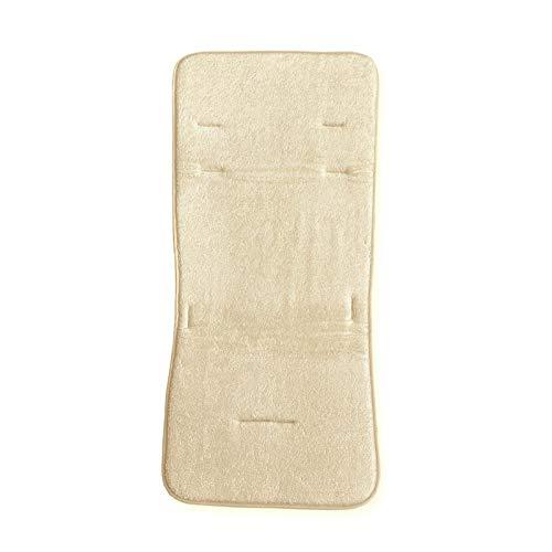 Bamboom Colchoneta Silla de Paseo/Silla de Auto 'Air Go' - Rizo - Amarillo Crema - Colchoneta para Silla de Paseo, unisex